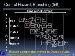 control hazard branching 5 9