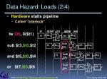data hazard loads 2 4