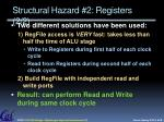 structural hazard 2 registers 2 2