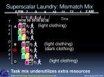 superscalar laundry mismatch mix