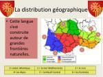 la distribution g ographique