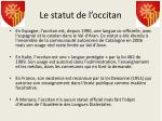le statut de l occitan