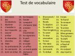 test de vocabulaire