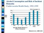 alcohol consumption and risk of incident dementia cardiovascular health study 1992 1999