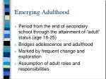 emerging adulthood1