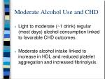moderate alcohol use and chd