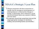 niaaa s strategic 5 year plan