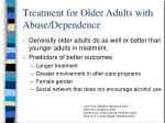 treatment for older adults with abuse dependence