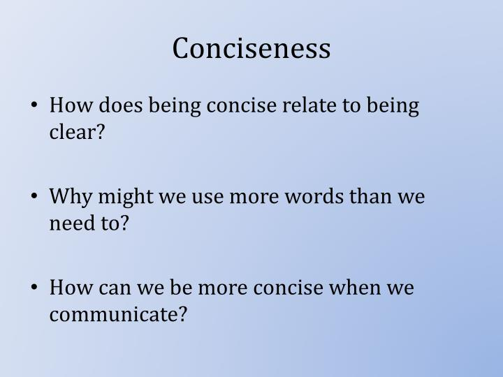 Conciseness