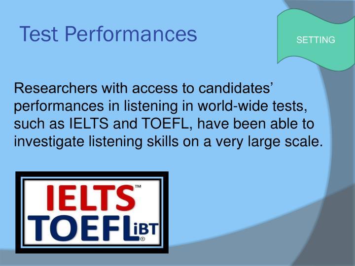 Test Performances