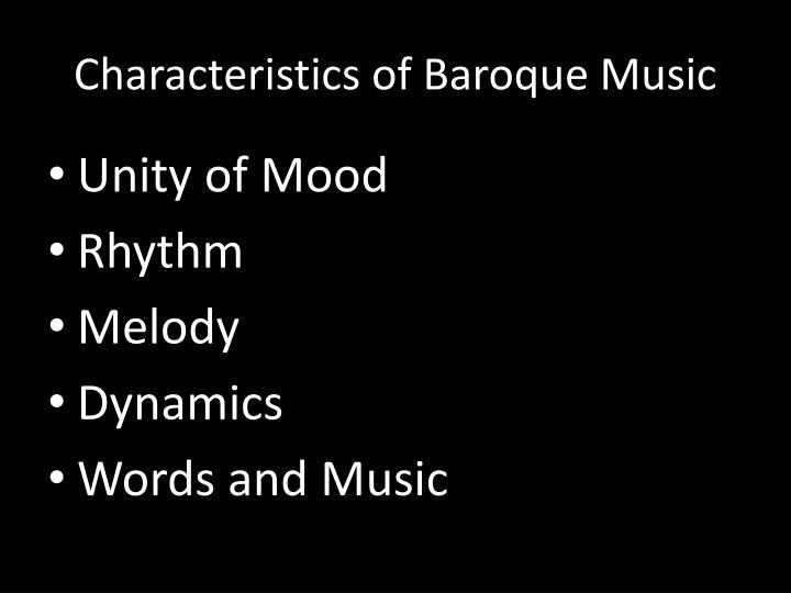 Characteristics of Baroque Music
