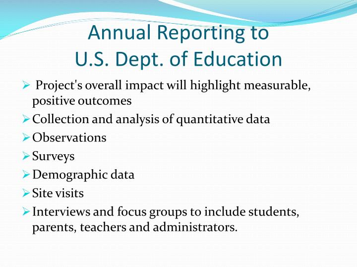 Annual Reporting to