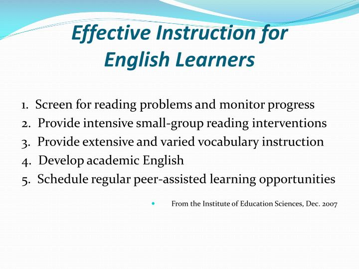 Effective Instruction for