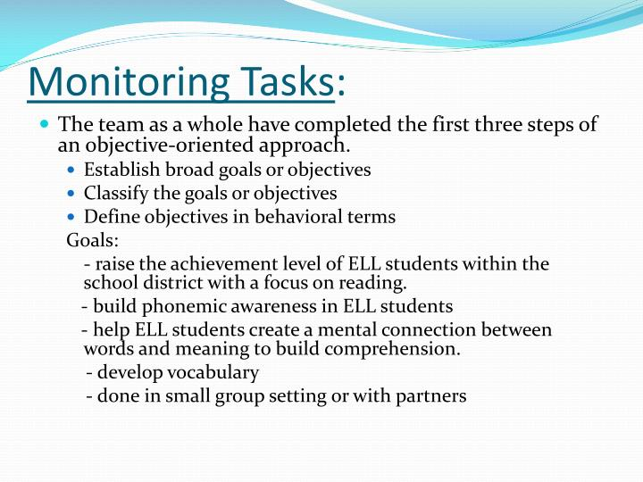 Monitoring Tasks