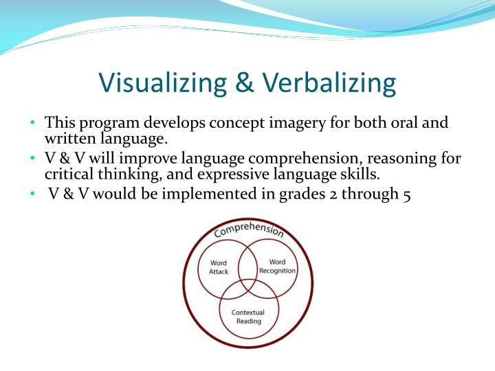 Visualizing & Verbalizing