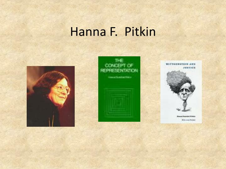 Ppt Hanna F Pitkin Powerpoint Presentation Free Download Id 2260488