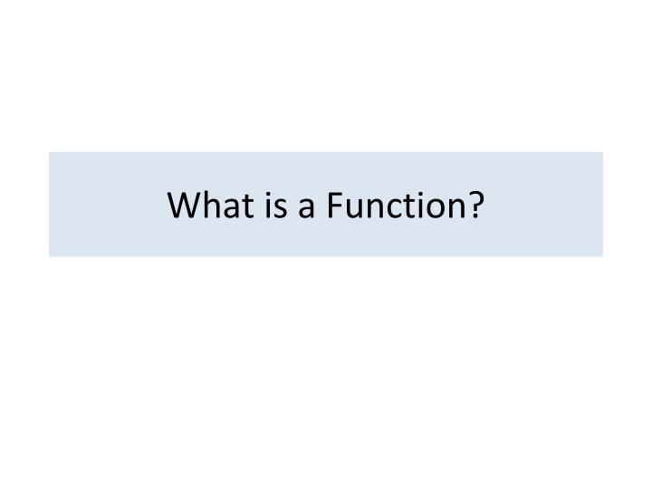 what is a function n.