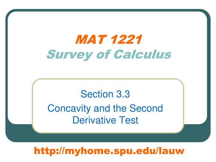 mat 1221 survey of calculus n.