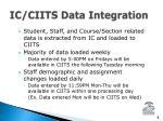 ic ciits data integration