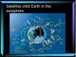 satellites orbit earth in the exosphere