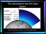 the atmosphere has five basic layers