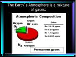 the earth s atmosphere is a mixture of gases