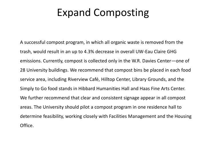 Expand Composting