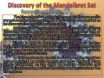 discovery of the mandelbrot set