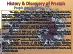 history discovery of fractals