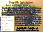 step 2 calculation