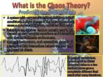 what is the chaos theory
