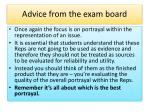 advice from the exam board