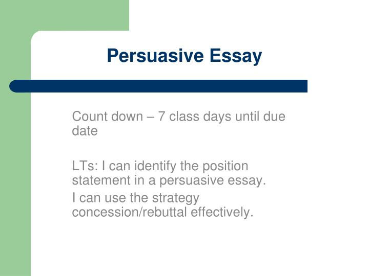 persuasive essay about summer vacation Revising the persuasive essay: organization appropriate to purpose, audience the purpose of this piece is to persuade the reader that summer vacation leads to.