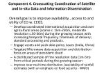 component 4 crosscutting coordination of satellite and in situ data and information dissemination