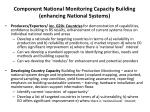 component national monitoring capacity building enhancing national systems
