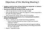 objectives of this working meeting 1
