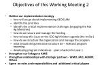 objectives of this working meeting 2