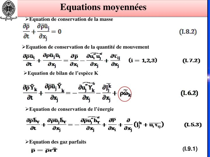 Equations moyennées
