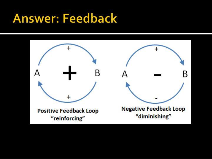 Answer: Feedback