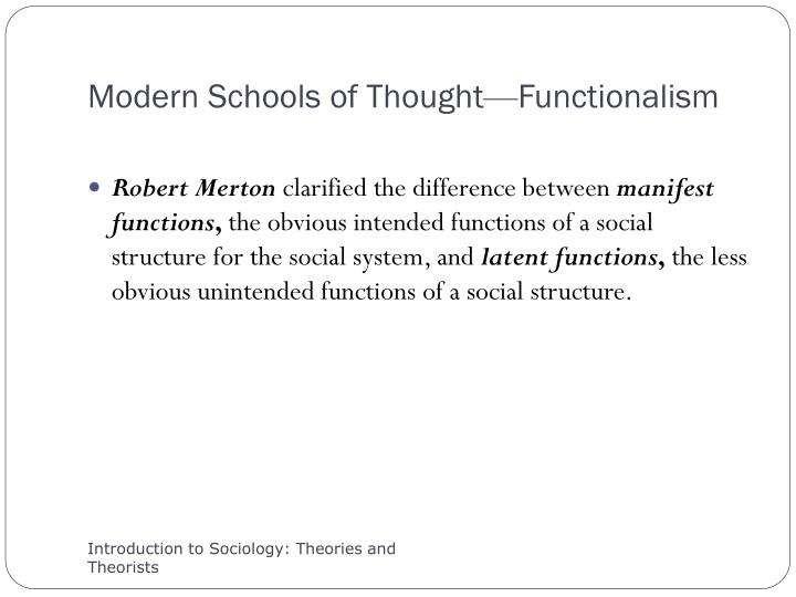 Functions manifest and sociology latent Manifest and