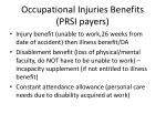 occupational injuries benefits prsi payers