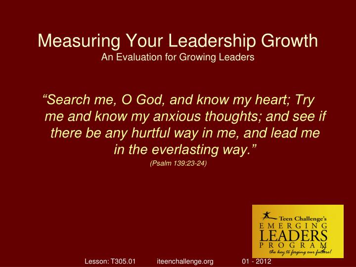 Measuring your leadership growth an evaluation for growing leaders