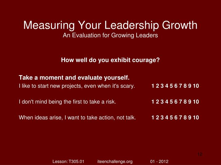 Measuring Your Leadership Growth