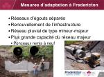 mesures d adaptation fredericton