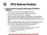 ipfo referee position