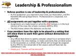 leadership professionalism