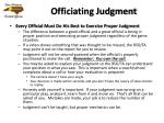 officiating judgment