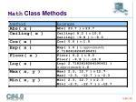 math class methods1