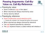 passing arguments call by value vs call by reference