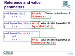 reference and value parameters